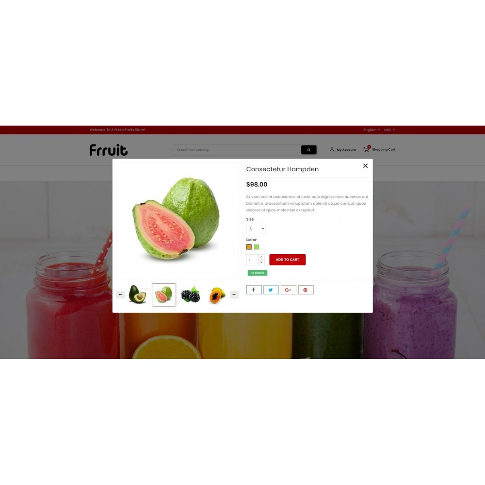 theme - Food & Restaurant - Fresh Fruits Store - 8