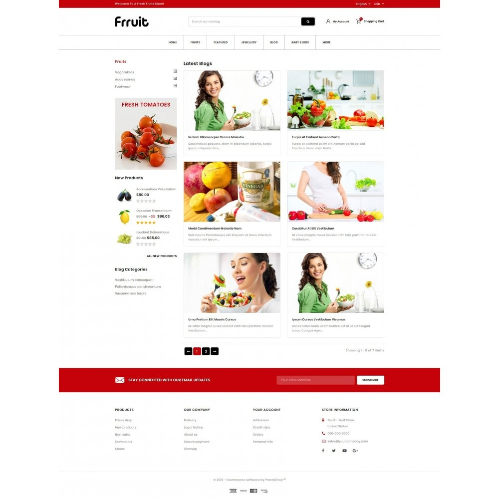 theme - Food & Restaurant - Fresh Fruits Store - 9