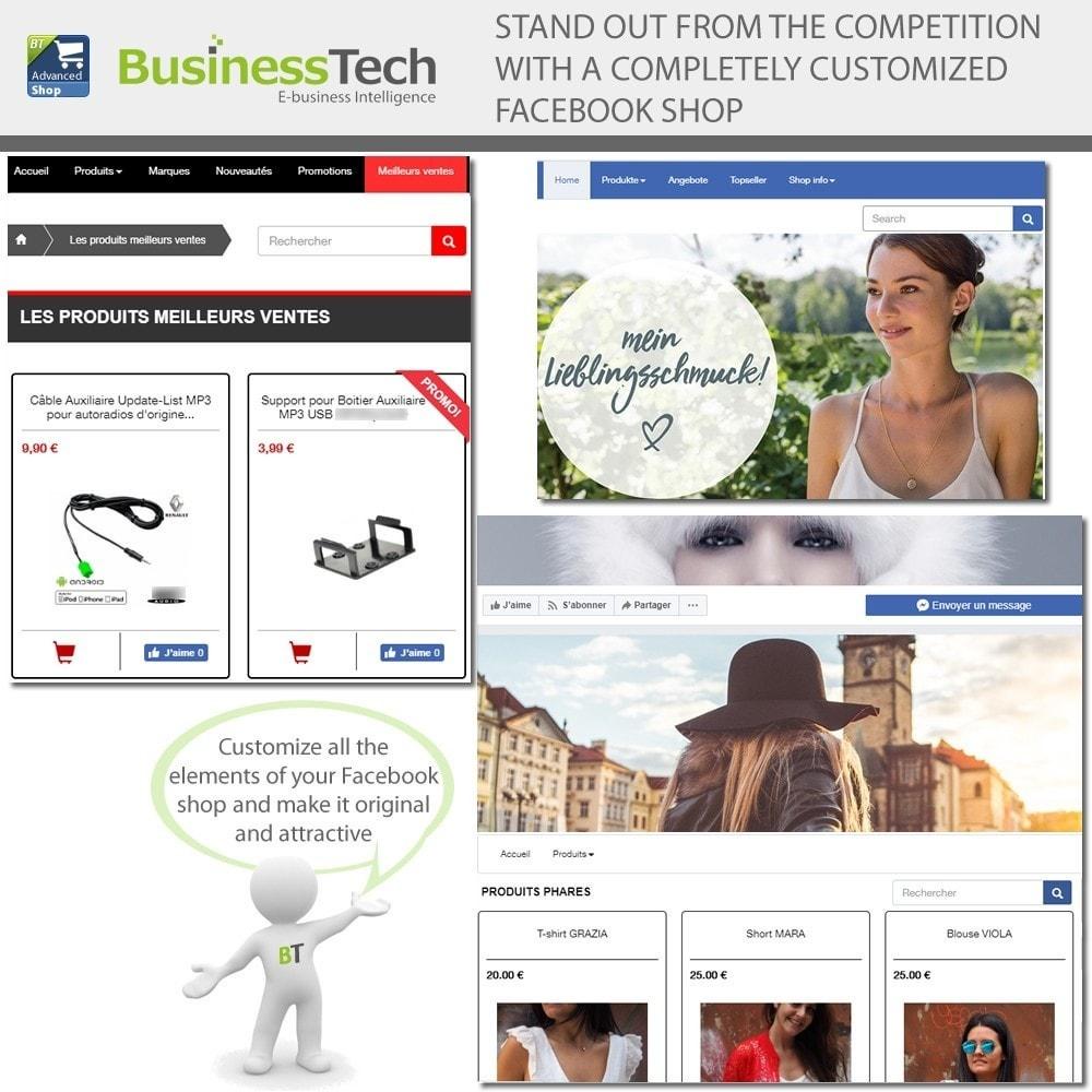 module - Productos en Facebook & redes sociales - Advanced Shop for Fan Page - 3