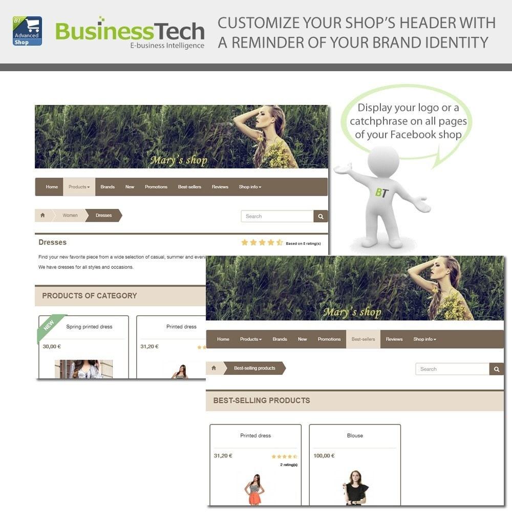module - Productos en Facebook & redes sociales - Advanced Shop for Fan Page - 4
