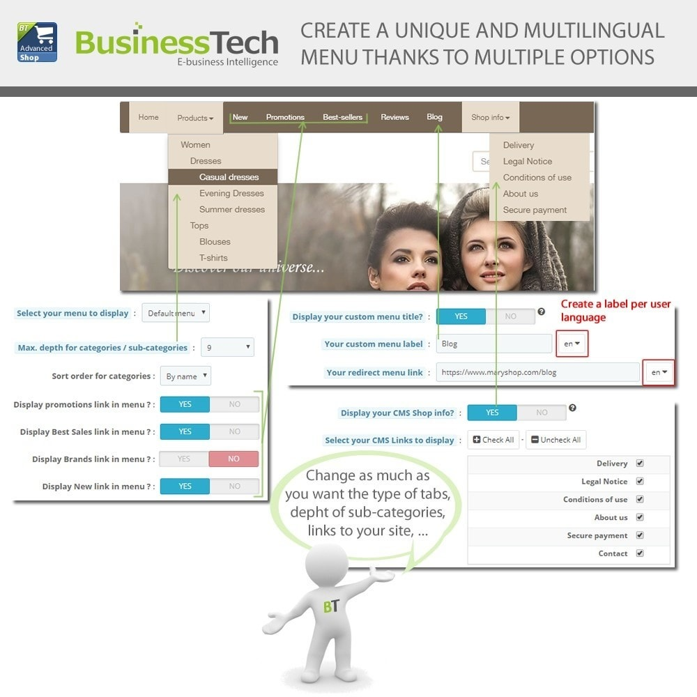 module - Productos en Facebook & redes sociales - Advanced Shop for Fan Page - 5