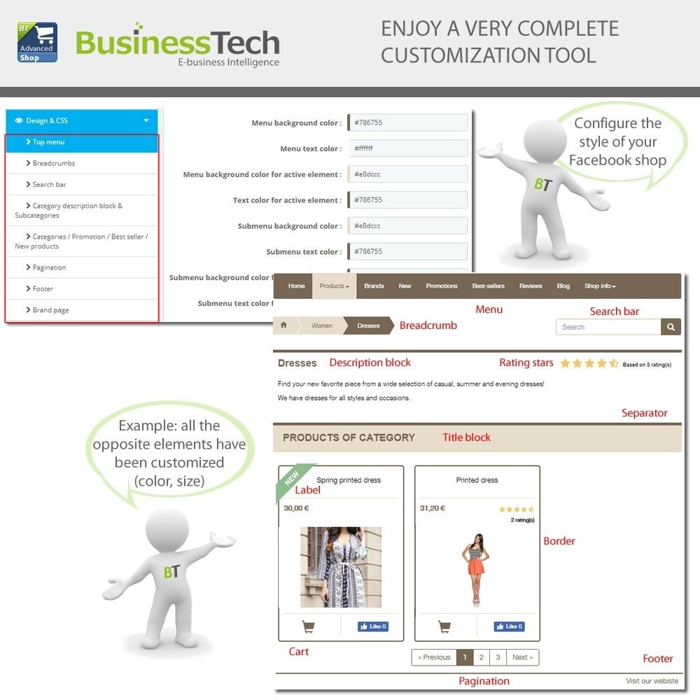 module - Productos en Facebook & redes sociales - Advanced Shop for Fan Page - 11
