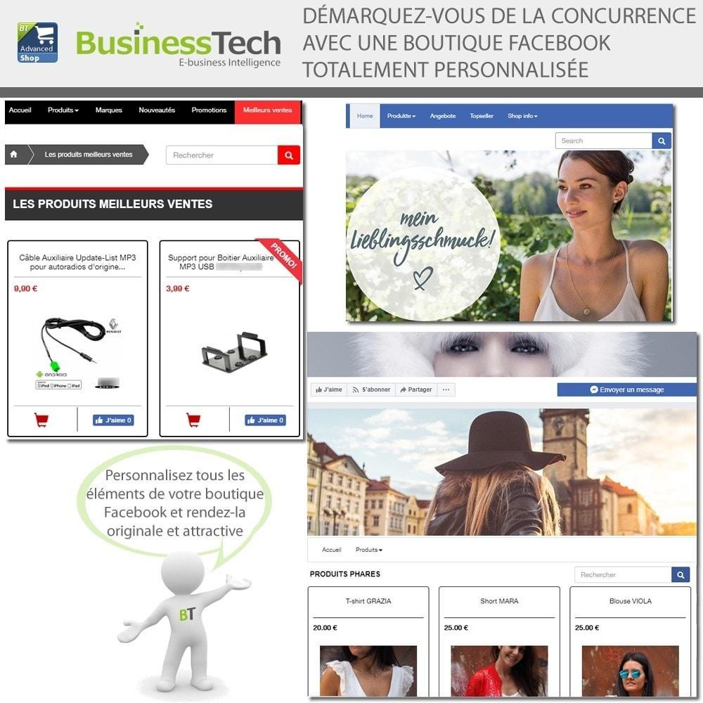 module - Produits sur Facebook & réseaux sociaux - Advanced Shop for Fan Page - 3