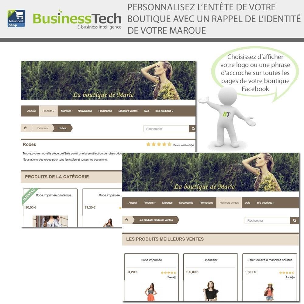 module - Produits sur Facebook & réseaux sociaux - Advanced Shop for Fan Page - 4