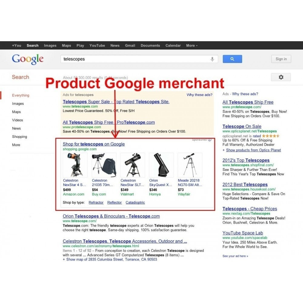 module - Comparatori di prezzi - SeoSA Mega Google Merchants (Google Shopping) - 3