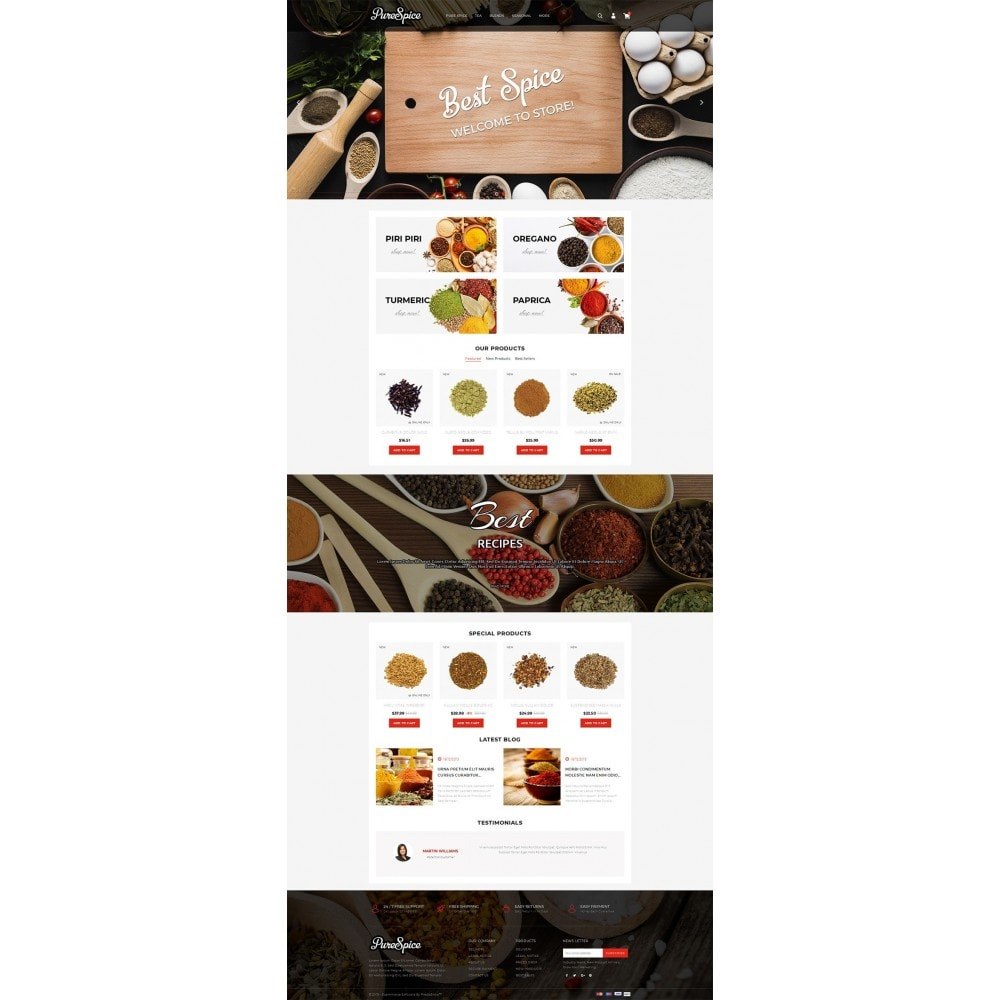theme - Alimentation & Restauration - Purespice - Food Store - 2