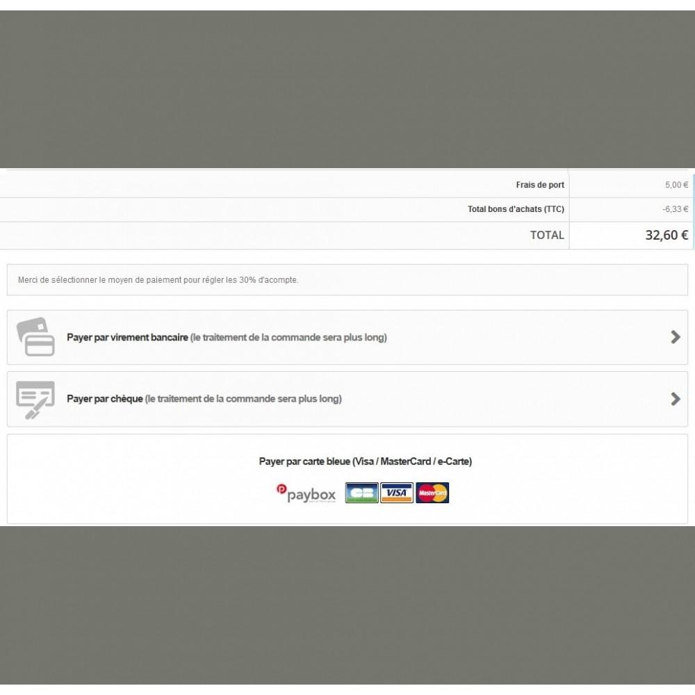 module - Autres moyens de paiement - Module d'acompte avec facture d'acompte - 9