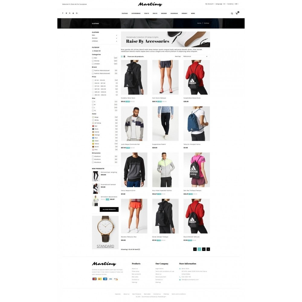 theme - Fashion & Shoes - Martiny - Accessories Store - 3
