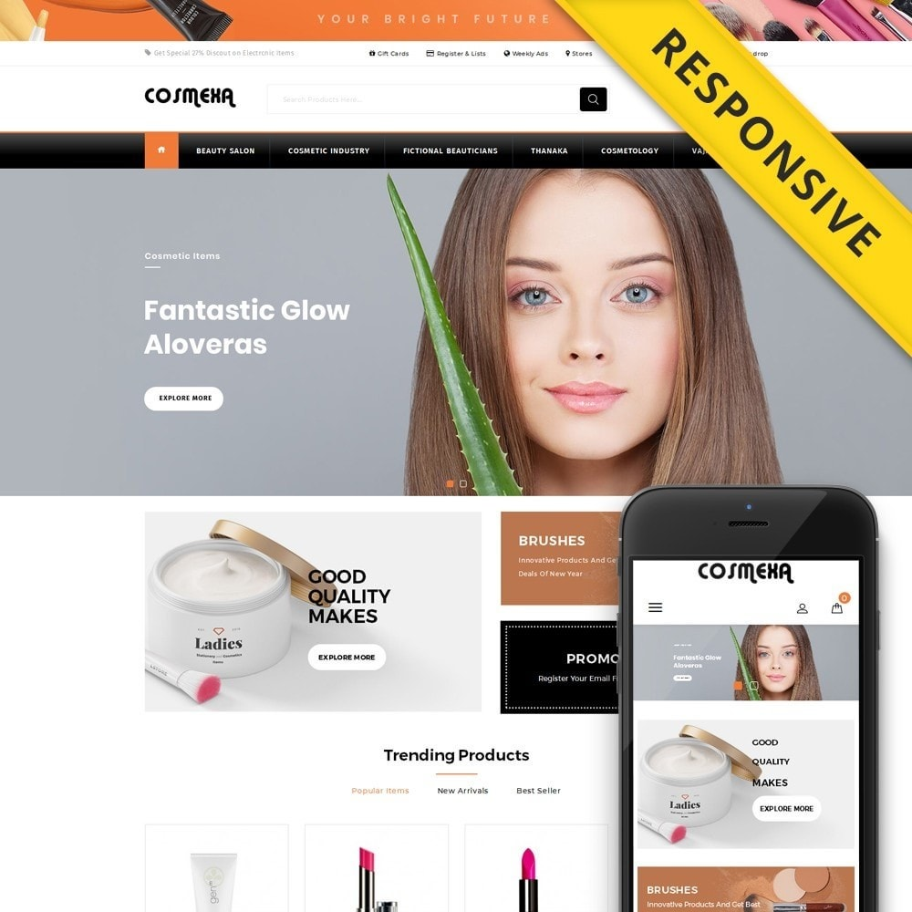 theme - Gifts, Flowers & Celebrations - Cosmexa - Cosmetic Shop - 1