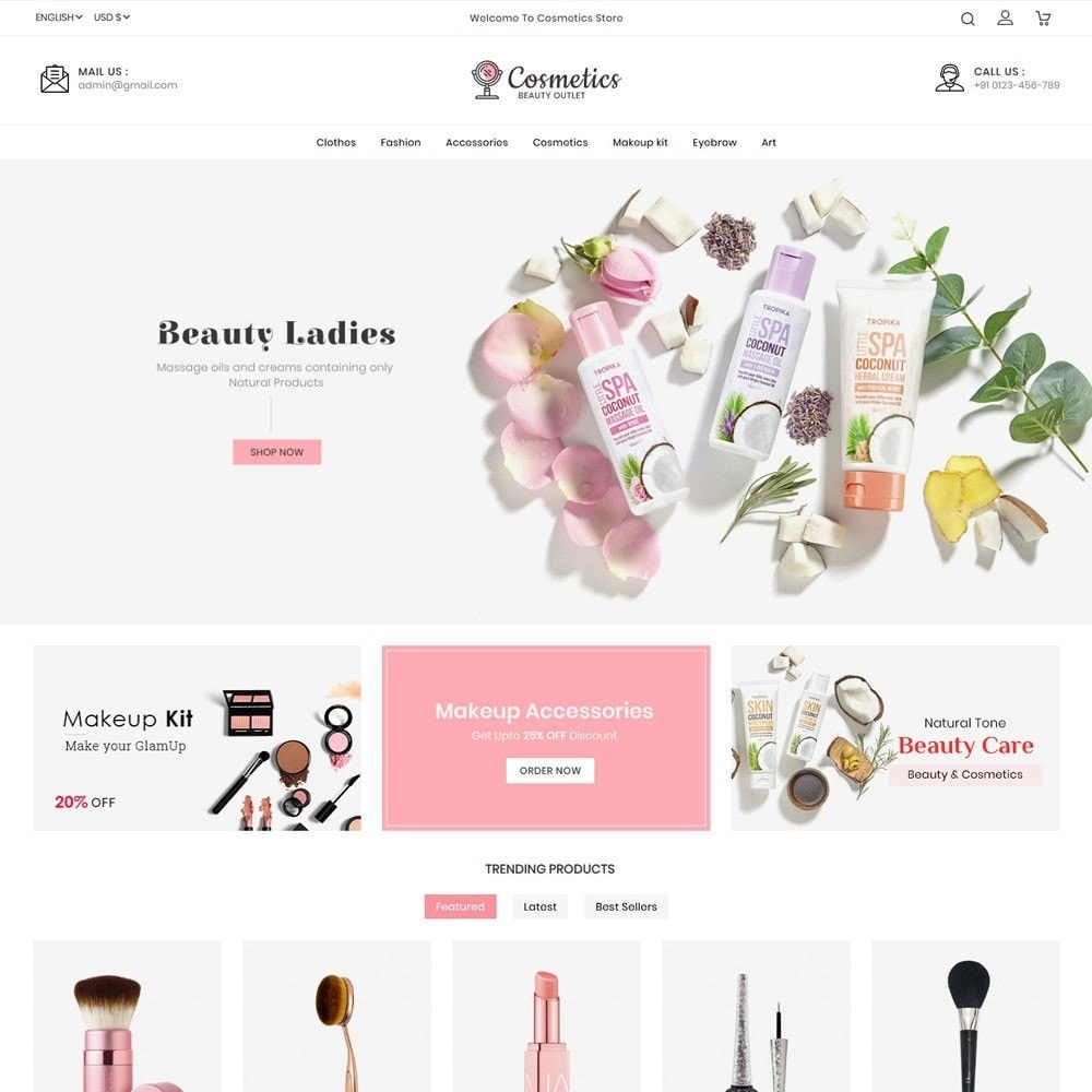 theme - Salud y Belleza - Cosmetics beauty store - 2