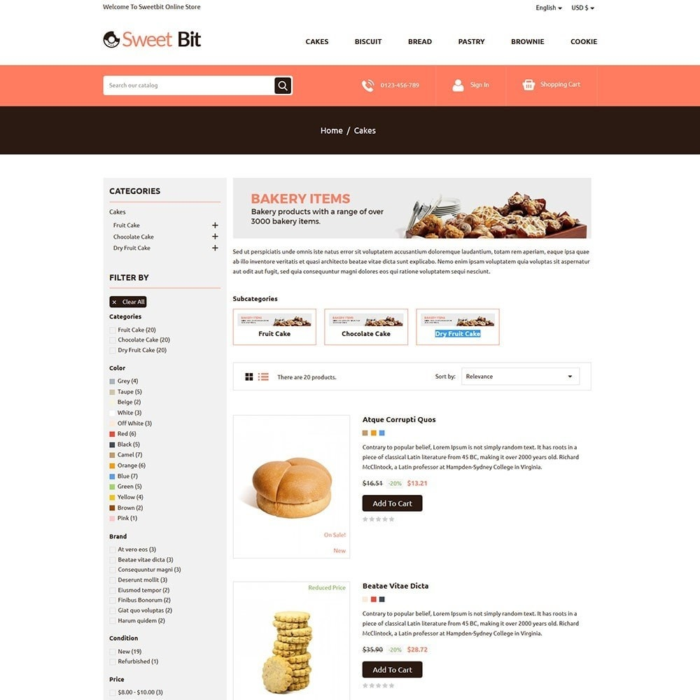 theme - Alimentation & Restauration - Sweetbit - Bakery Online Store - 4