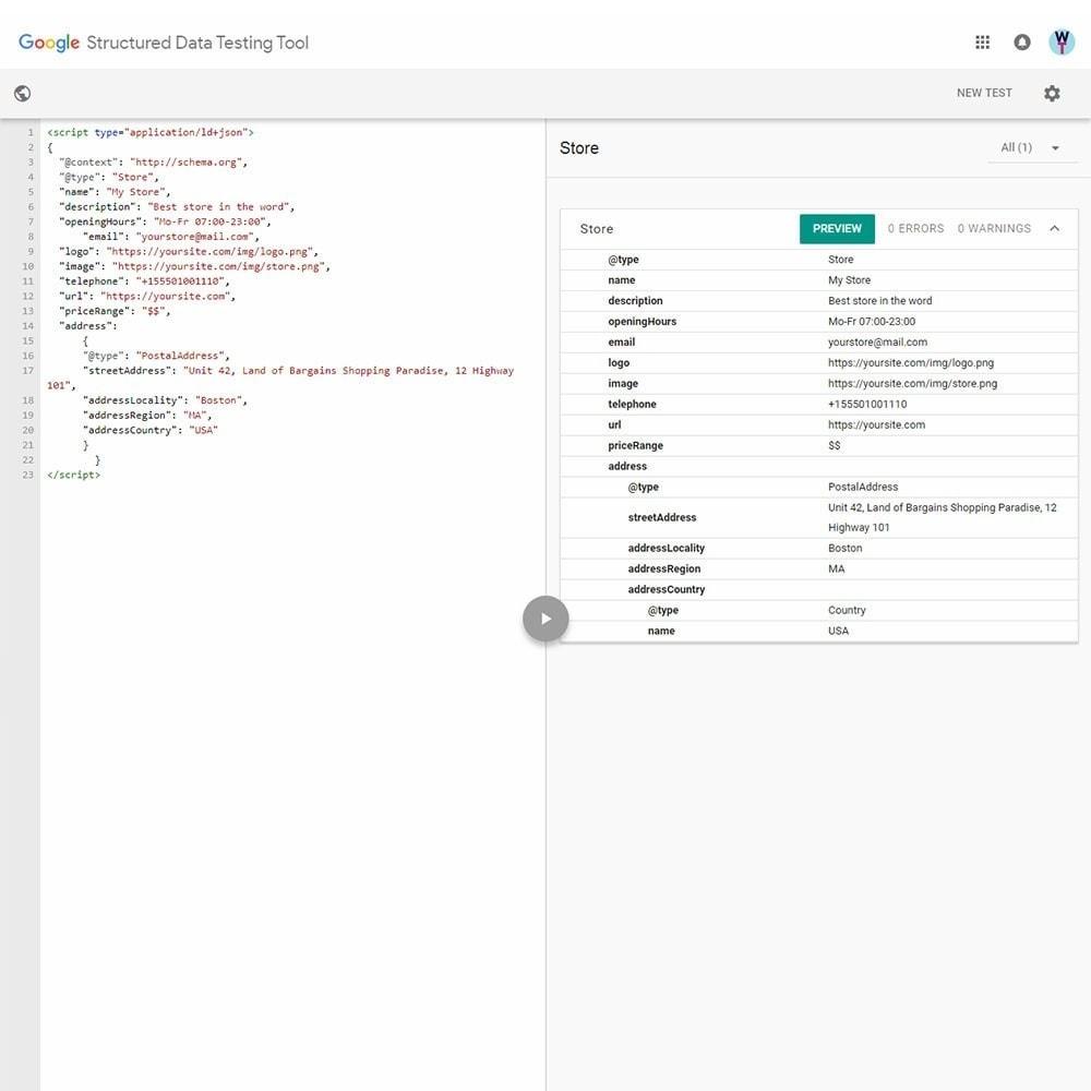 module - SEO (Pozycjonowanie naturalne) - SEO Schema Markup Structured Data Tool, Rich Snippets - 4