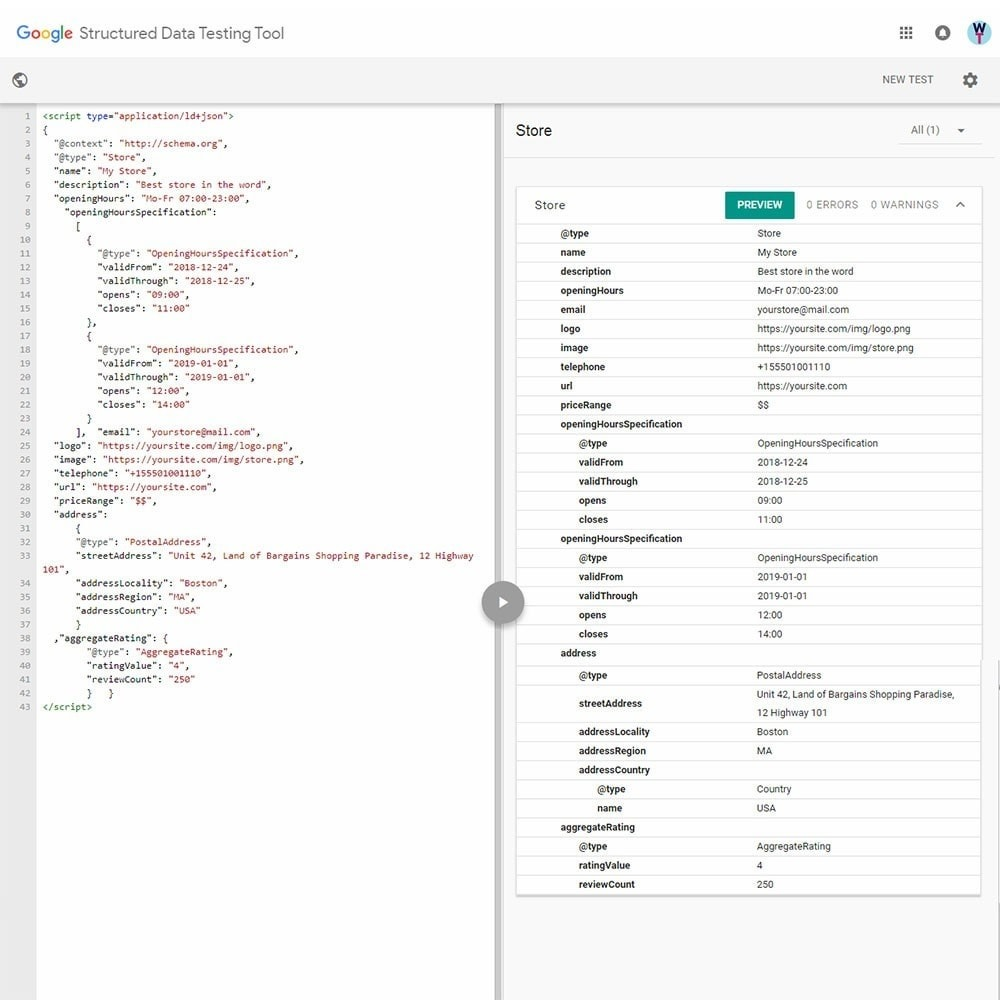 module - SEO (Pozycjonowanie naturalne) - SEO Schema Markup Structured Data Tool, Rich Snippets - 6