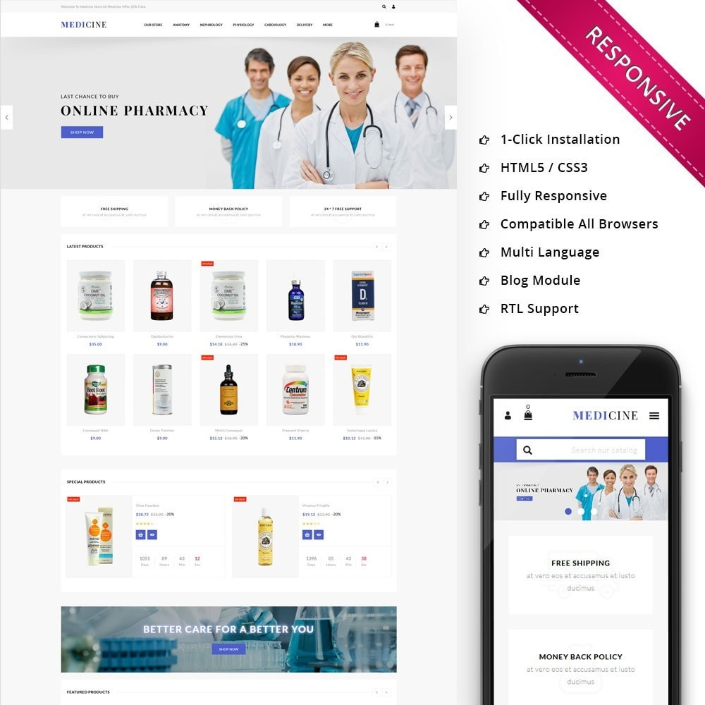 theme - Health & Beauty - Medicine - The Medical Store - 1