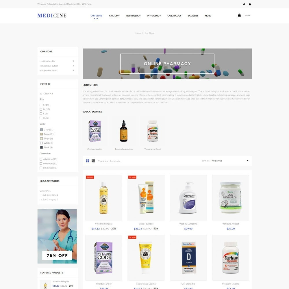 theme - Health & Beauty - Medicine - The Medical Store - 4