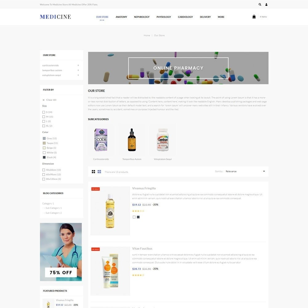 theme - Health & Beauty - Medicine - The Medical Store - 5