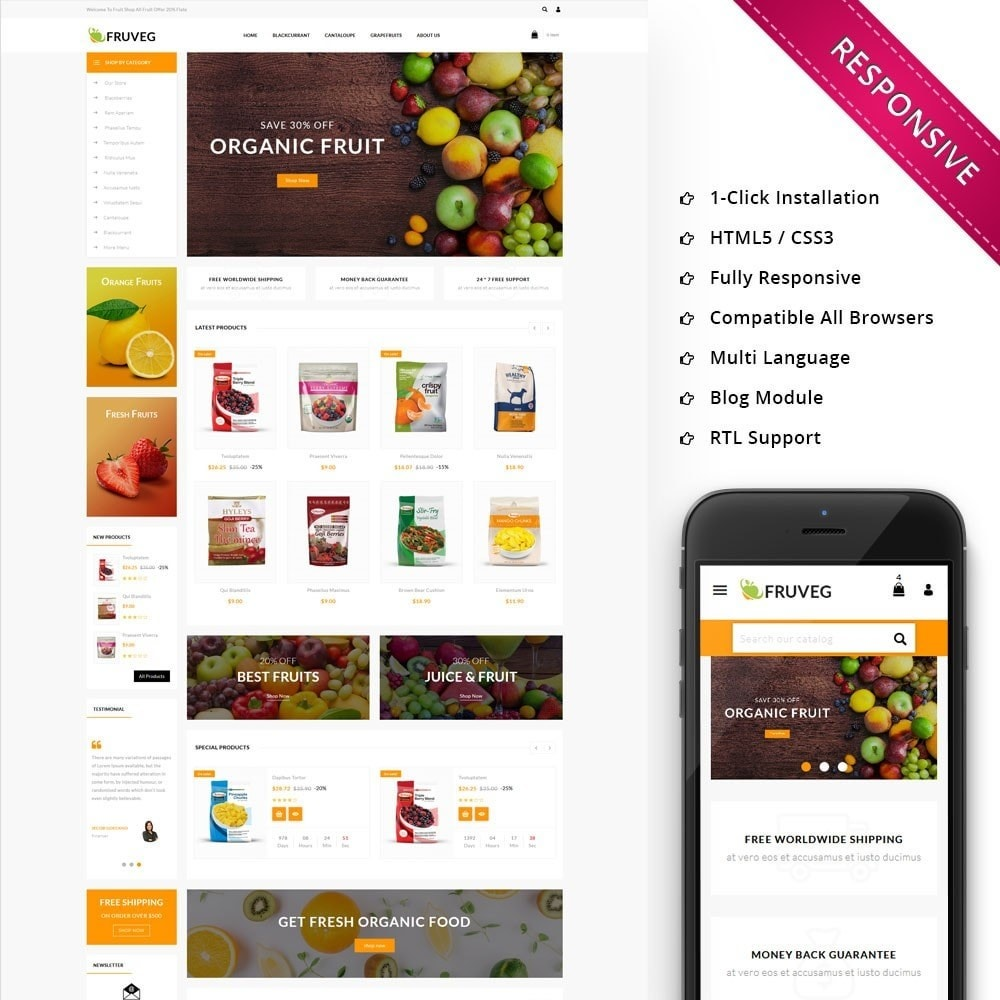theme - Продовольствие и рестораны - Fruveg - The Grocery Store - 1