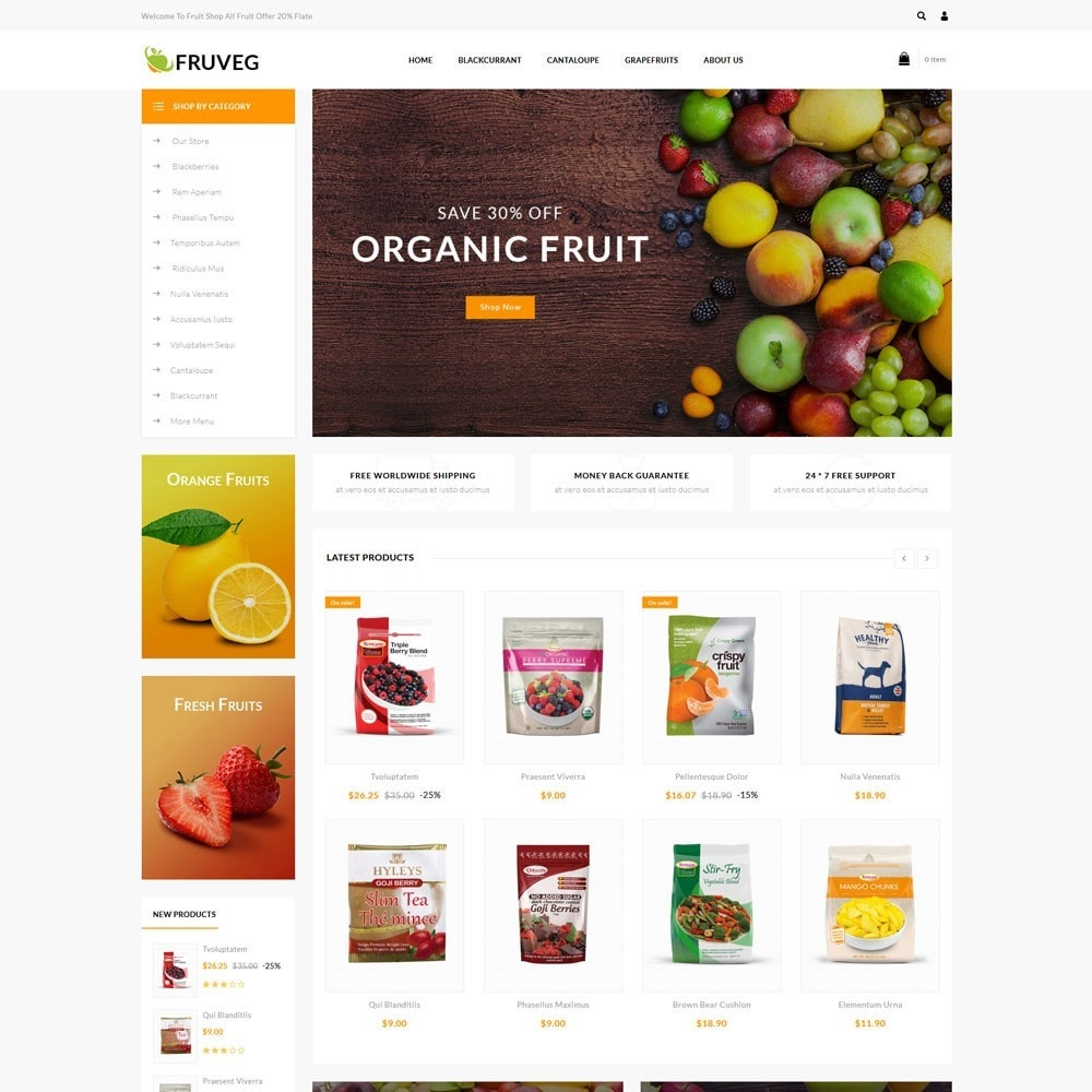 theme - Alimentation & Restauration - Fruveg - The Grocery Store - 2