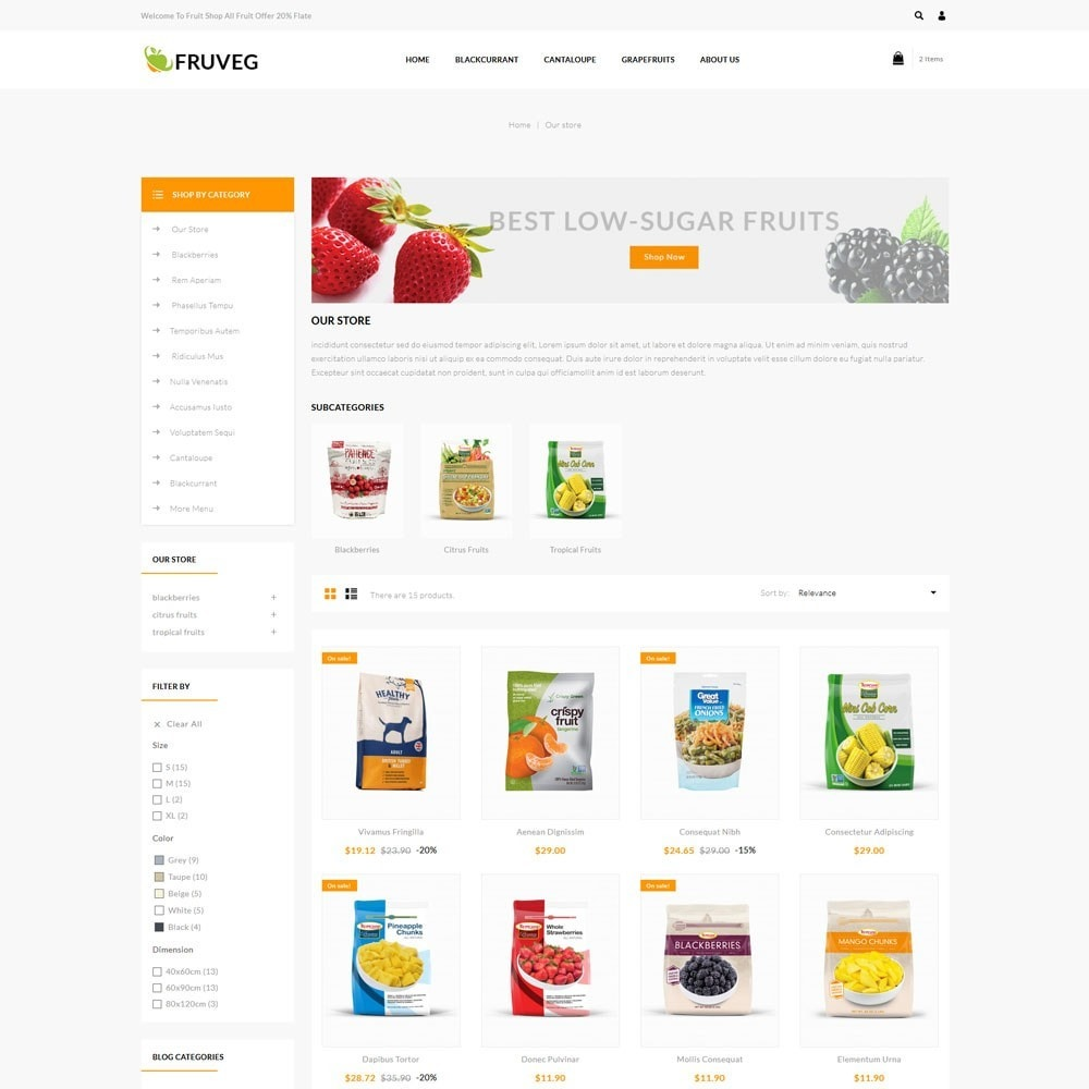 theme - Alimentation & Restauration - Fruveg - The Grocery Store - 4