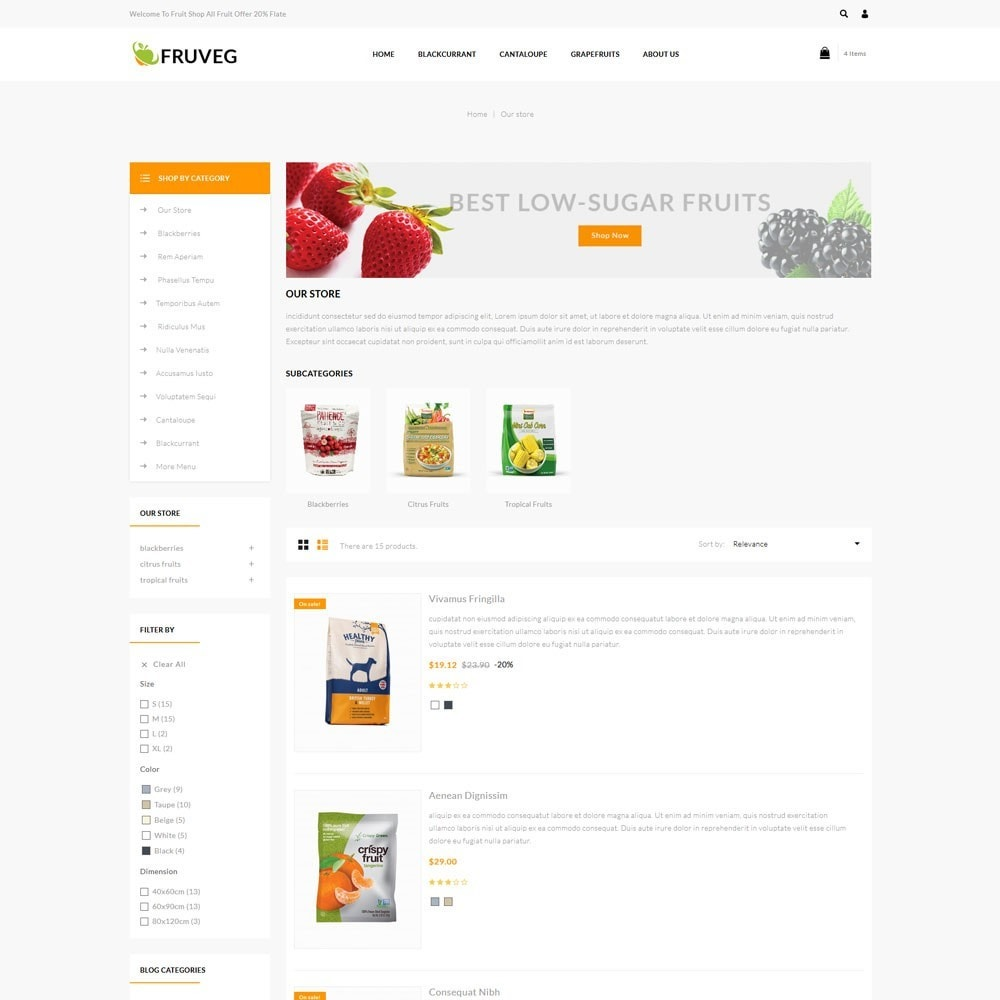 theme - Alimentation & Restauration - Fruveg - The Grocery Store - 5