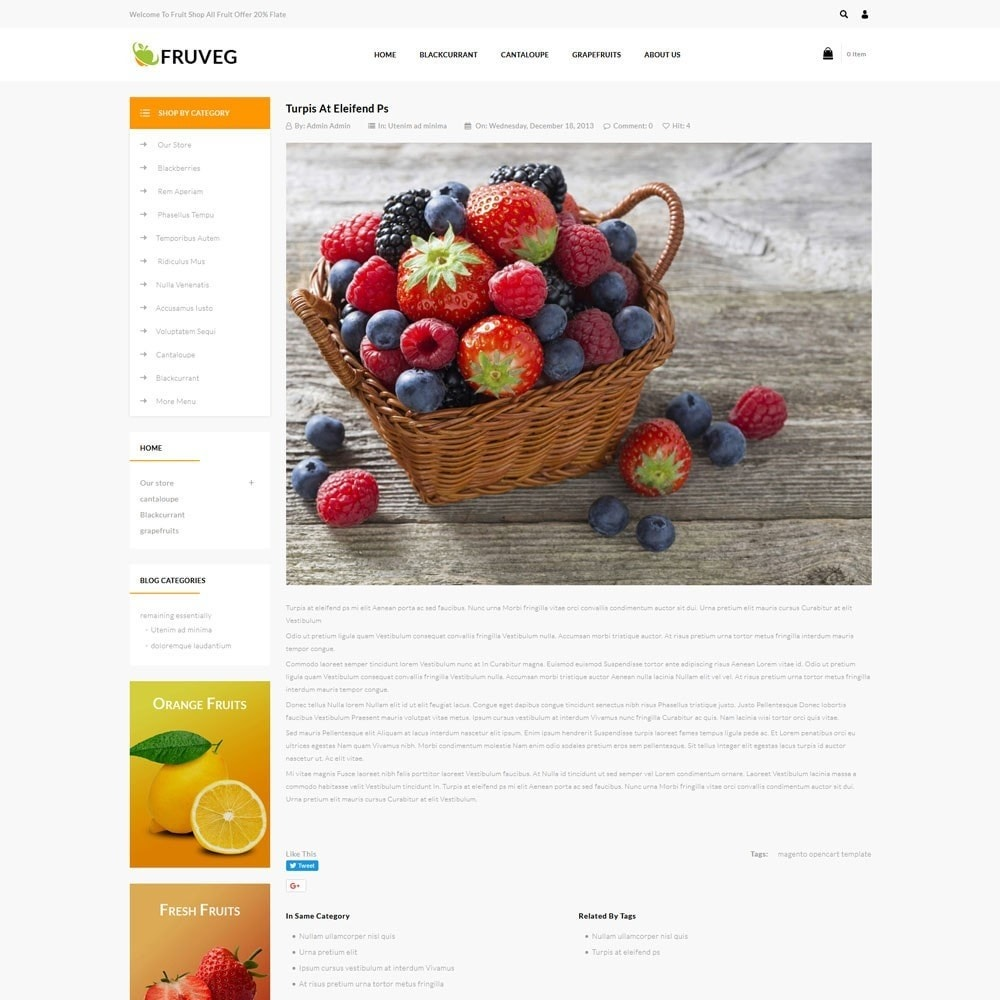 theme - Alimentation & Restauration - Fruveg - The Grocery Store - 7