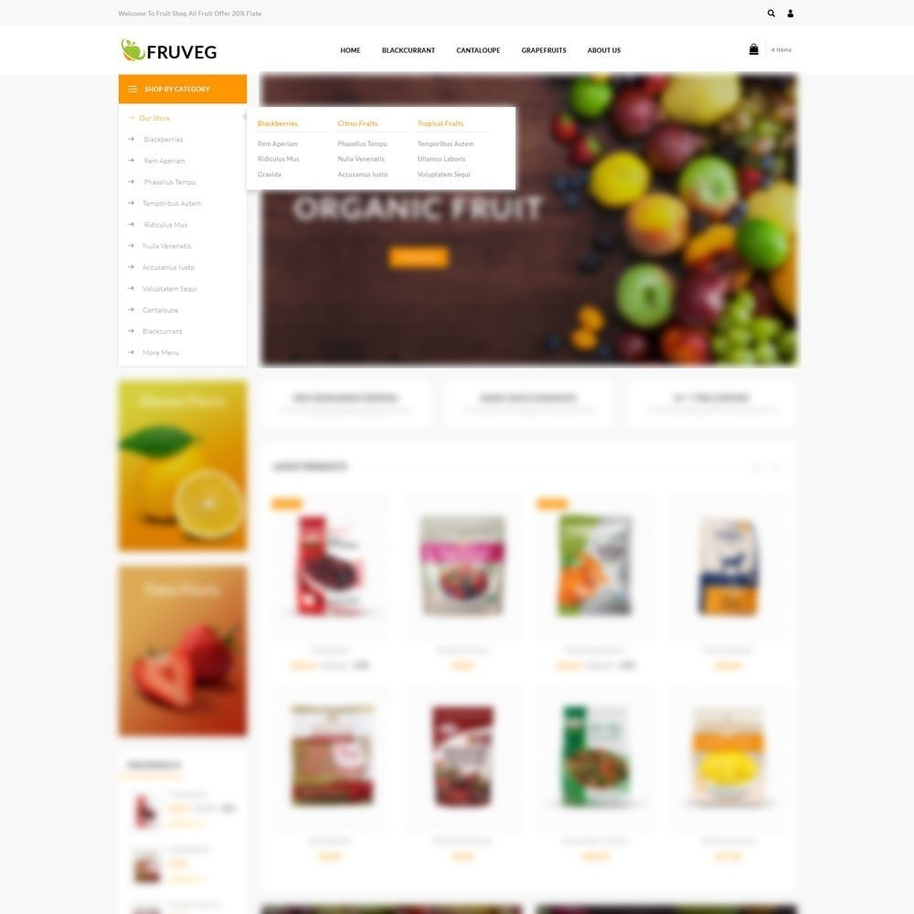 theme - Alimentation & Restauration - Fruveg - The Grocery Store - 8