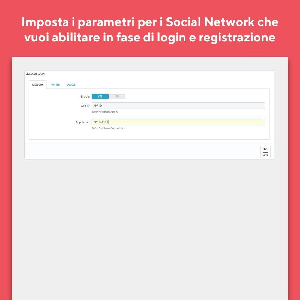 module - Login/Connessione - Mr Shop Login Social - 4