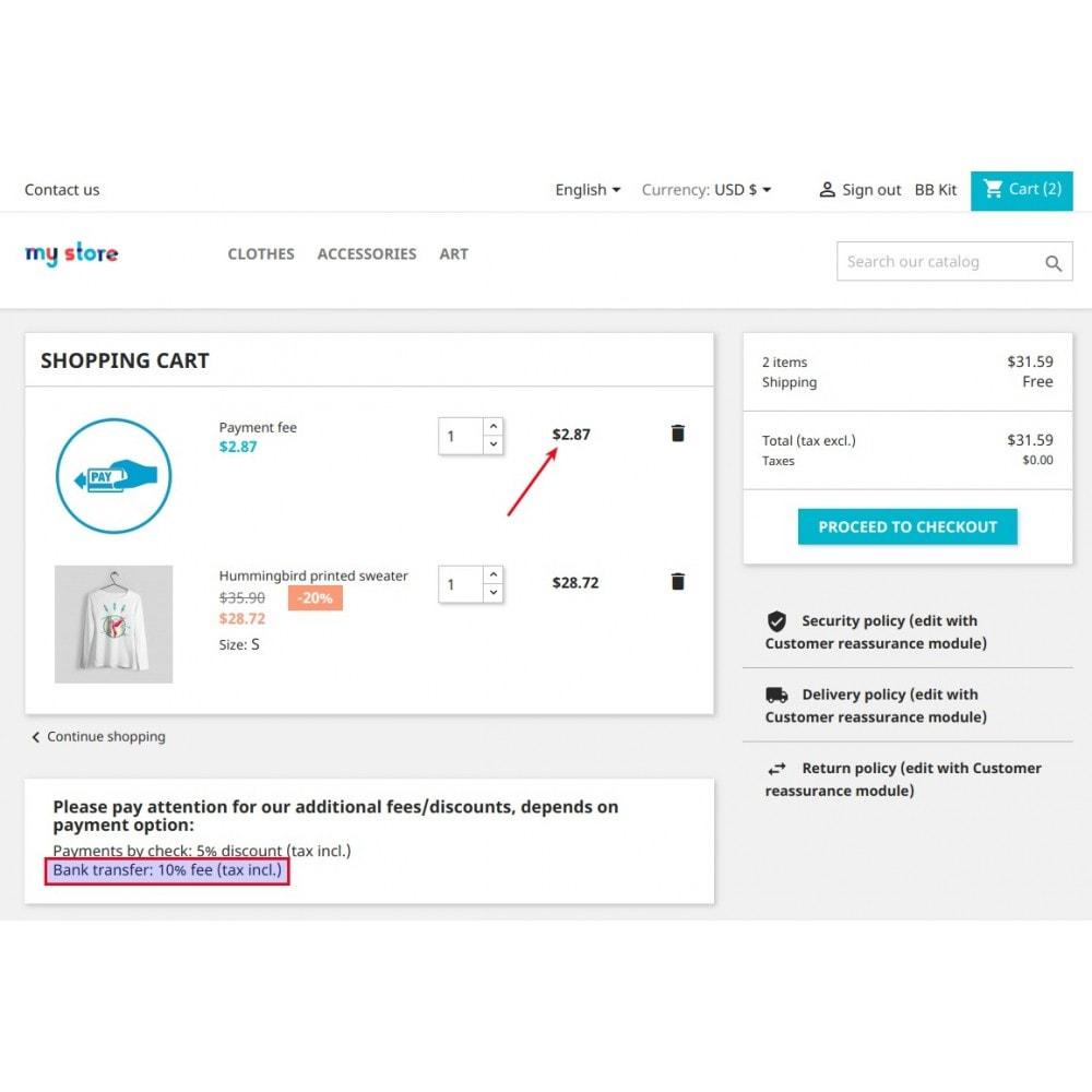 module - Cadastro e Processo de Pedido - Extra fee or discount based on payment - 17