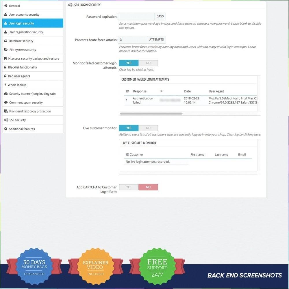 module - Sicherheit & Berechtigungen - Protect Shop PRO / Anti Hack - 2
