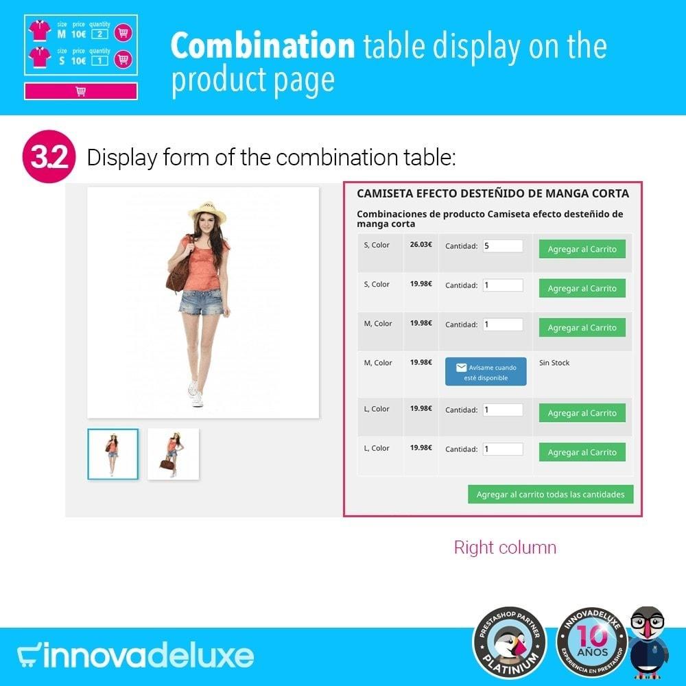 module - Deklinacje & Personalizacja produktów - Product data sheet with combination table - 7