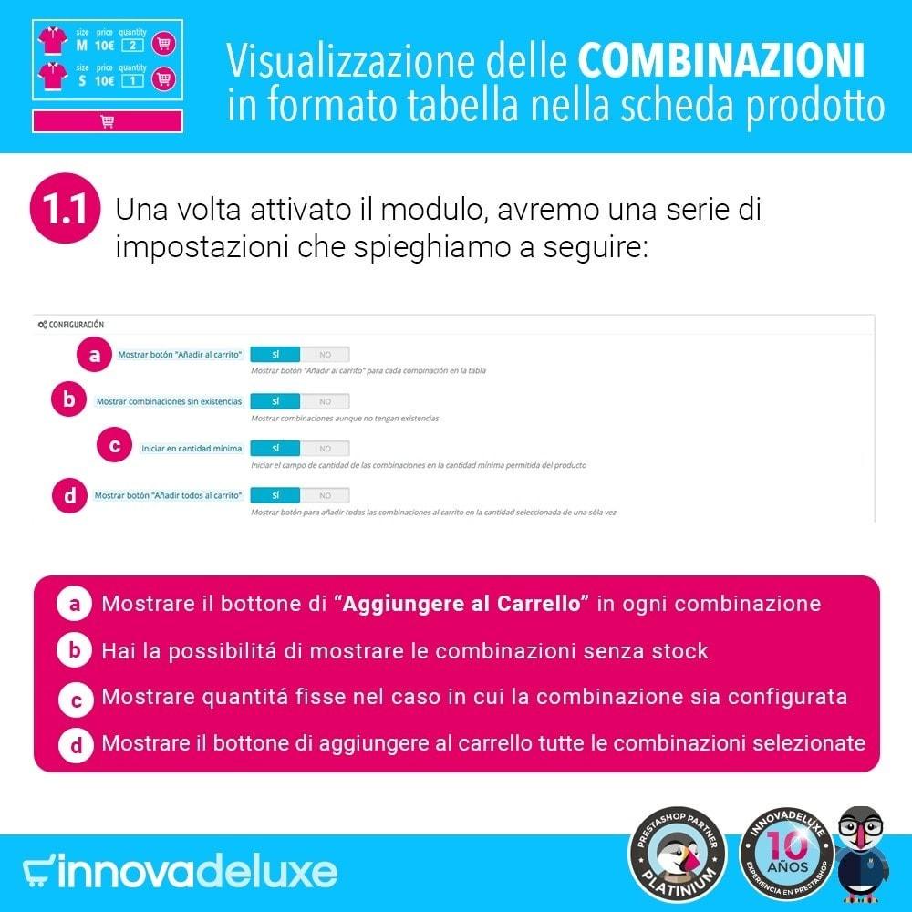 module - Combinazioni & Personalizzazione Prodotti - Scheda prodotto con tabella combinazioni - 2