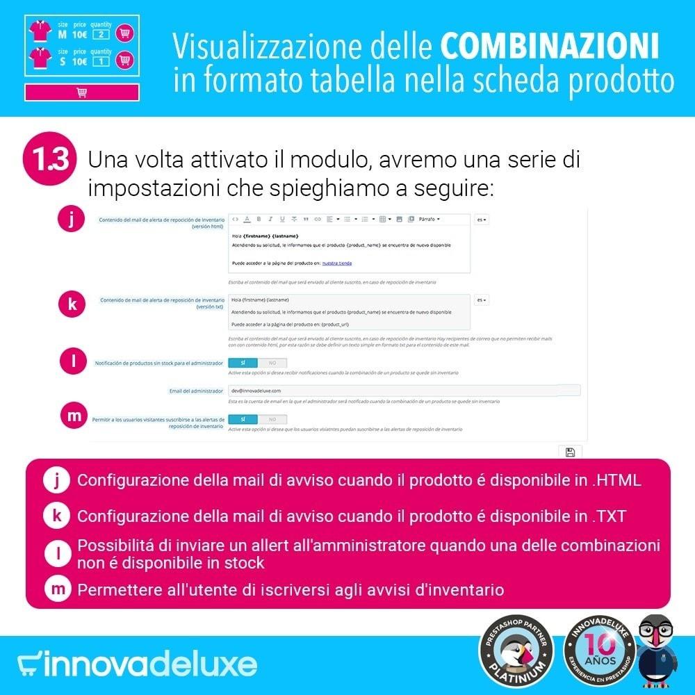 module - Combinazioni & Personalizzazione Prodotti - Scheda prodotto con tabella combinazioni - 4