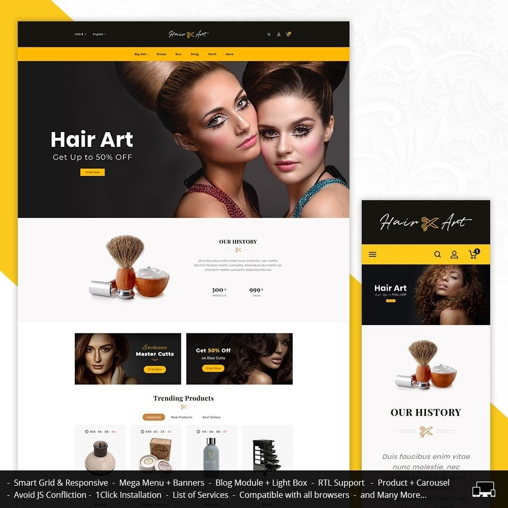 theme - Health & Beauty - Hair Barber & Therapy - 1