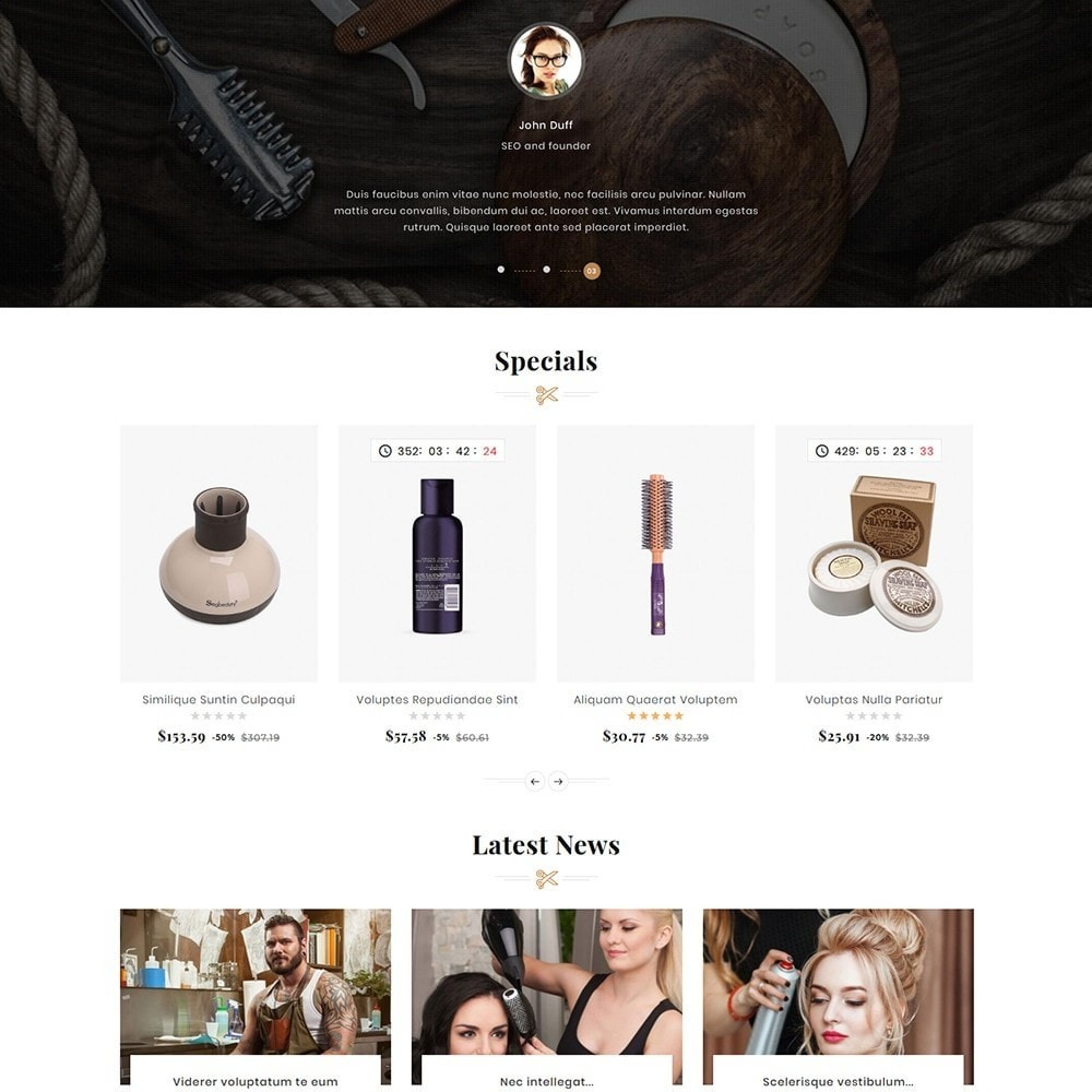 theme - Health & Beauty - Hair Barber & Therapy - 4