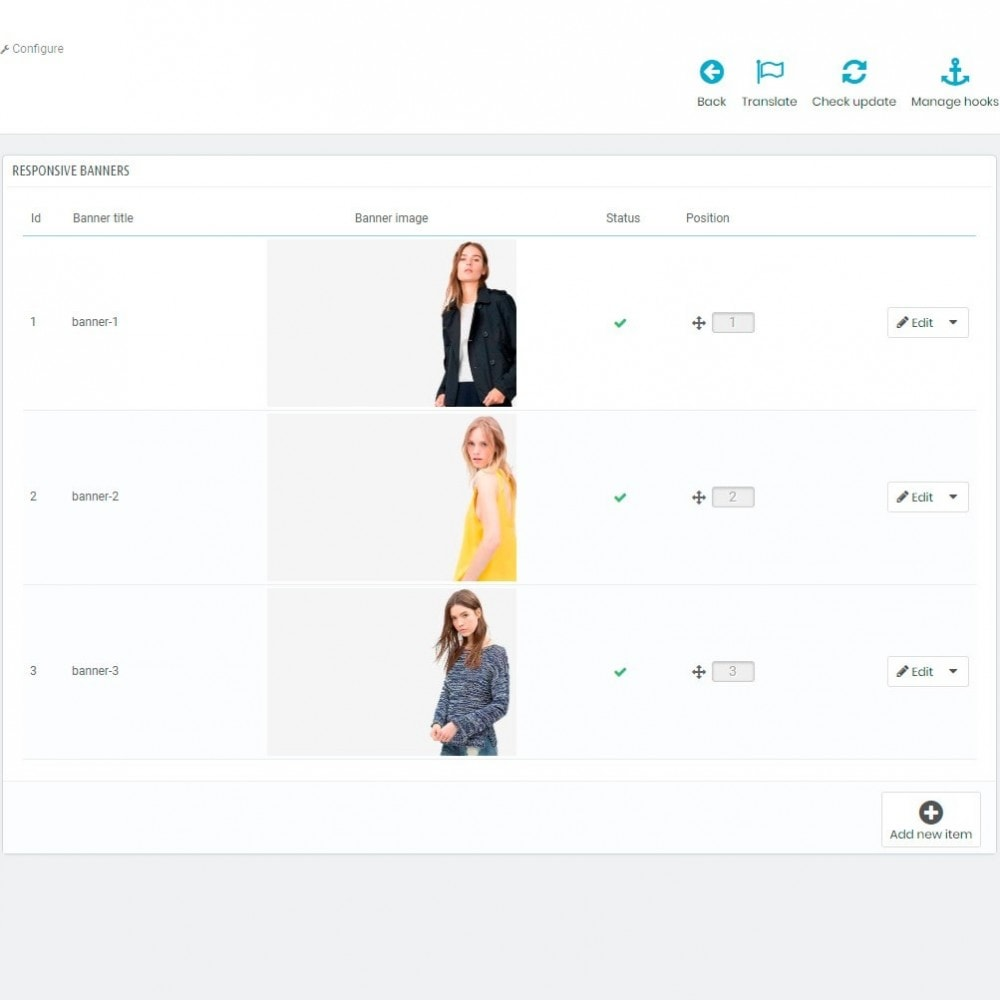 module - Blokken, Tabbladen & Banners - Ads Banner Images and HTML content - 3