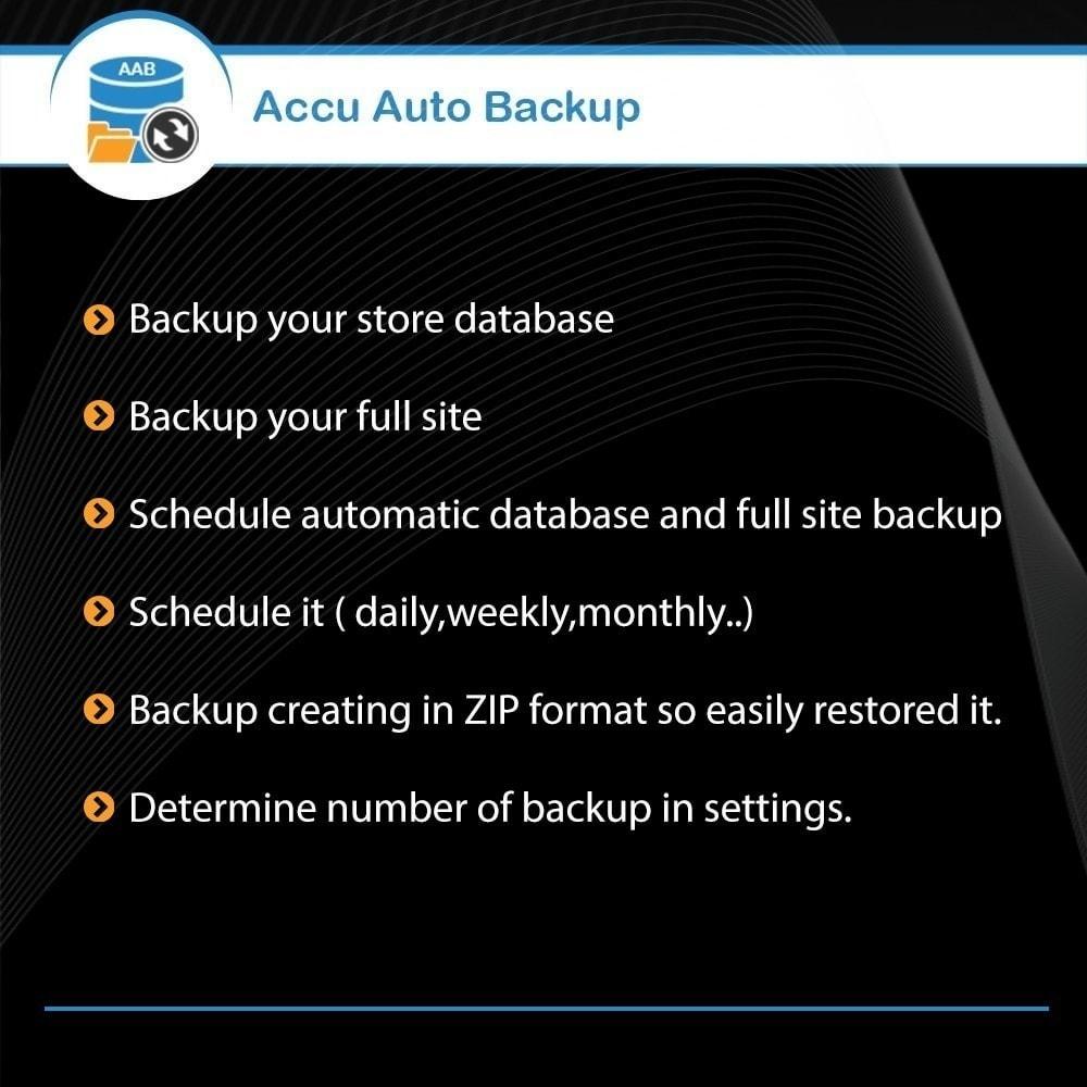 module - Data Migration & Backup - Accu Auto Backup - 1