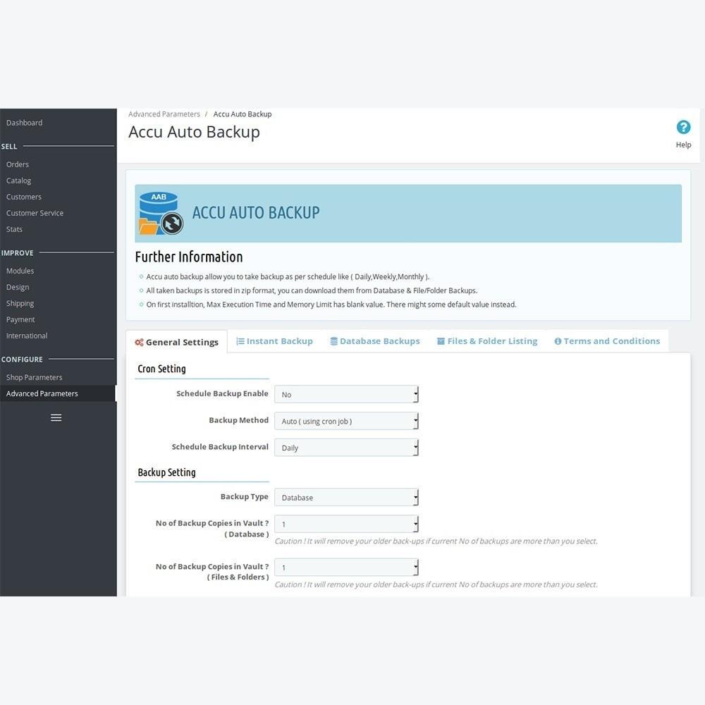 module - Data Migration & Backup - Accu Auto Backup - 2