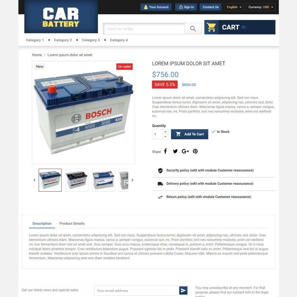 theme - Automotive & Cars - CarBattery - 4
