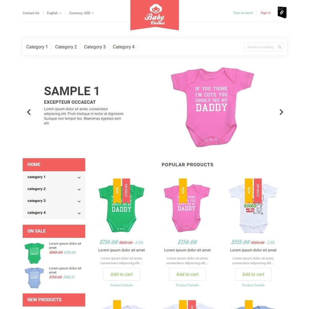 theme - Zabawki & Artykuły dziecięce - BabyClothes - 2