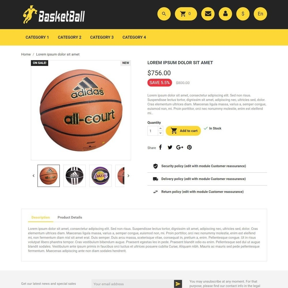 theme - Sport, Rozrywka & Podróże - BasketBall - 4