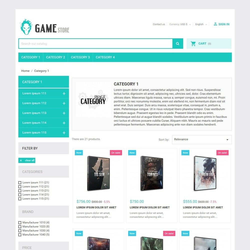 theme - Спорт и Путешествия - GameStore - 2