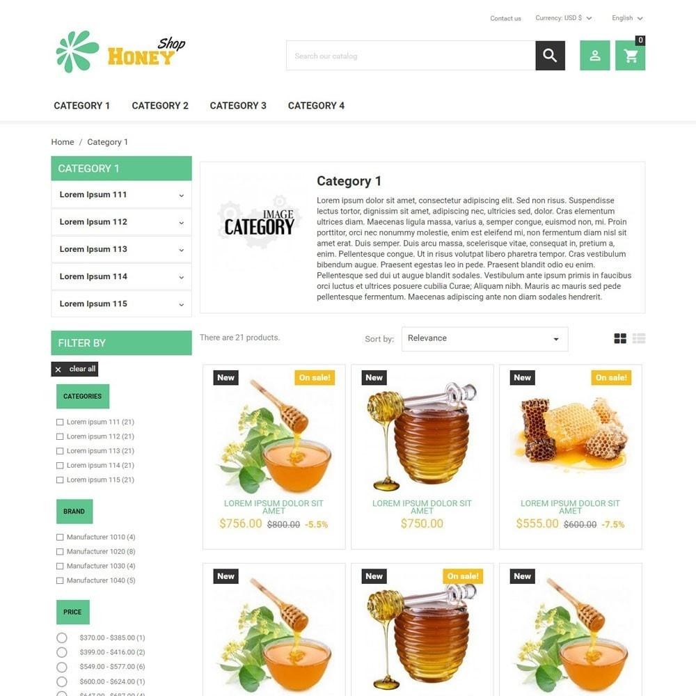 theme - Food & Restaurant - HoneyShop - 3