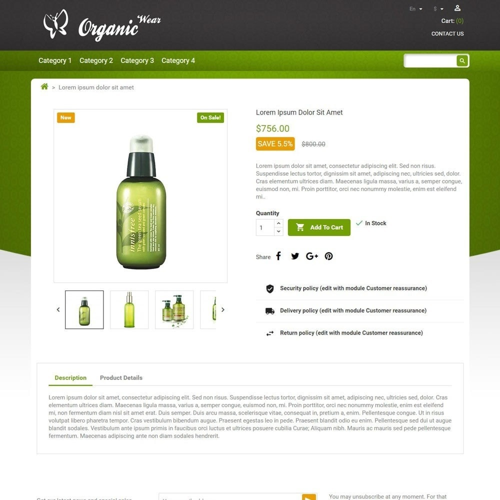 theme - Salud y Belleza - OrganicWear - 4