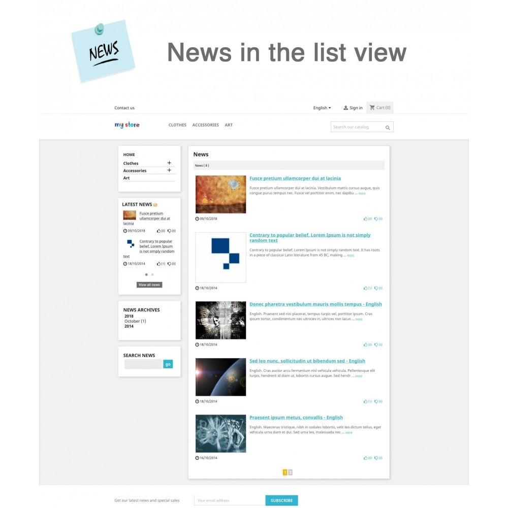 module - Blog, Forum & News - News Advanced + Google Rich Snippets - 1