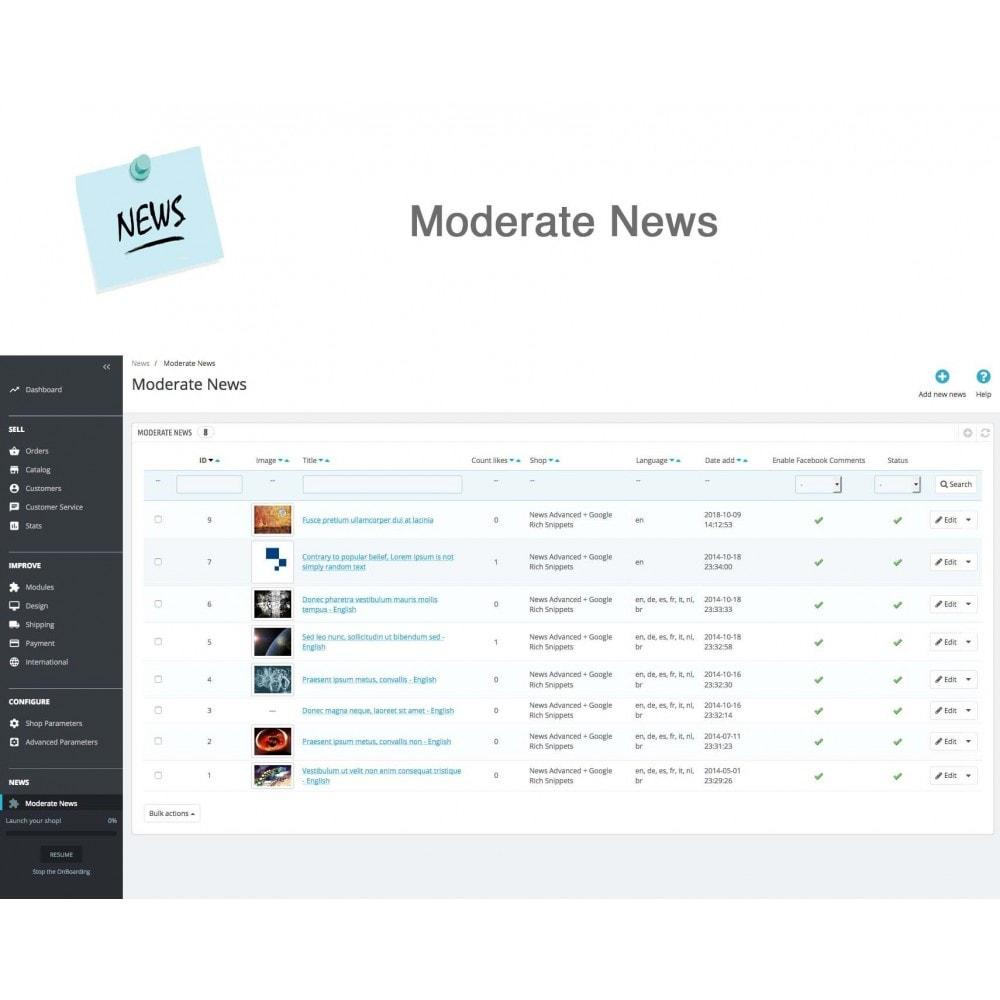module - Blog, Forum & News - News Advanced + Google Rich Snippets - 18