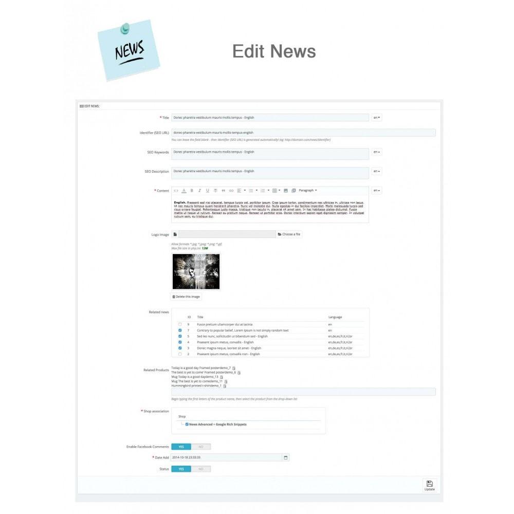 module - Blog, Forum & News - News Advanced + Google Rich Snippets - 19