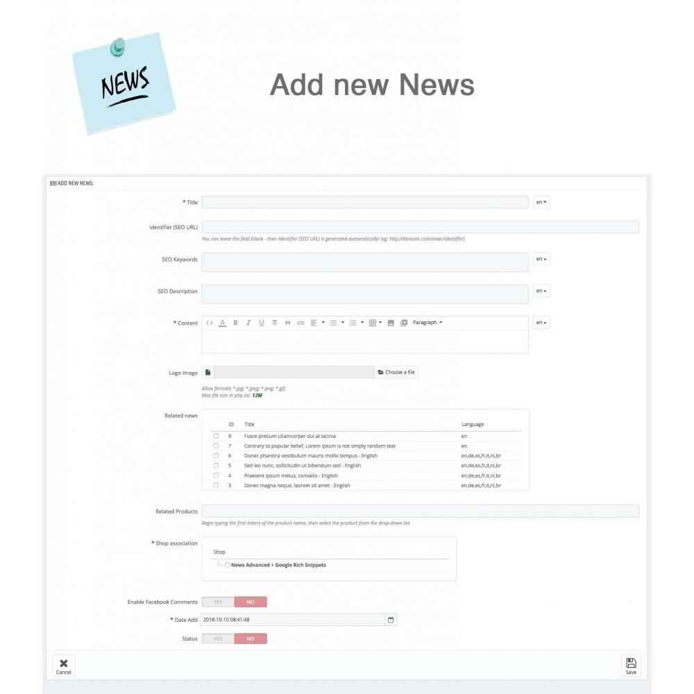 module - Blog, Forum & News - News Advanced + Google Rich Snippets - 20