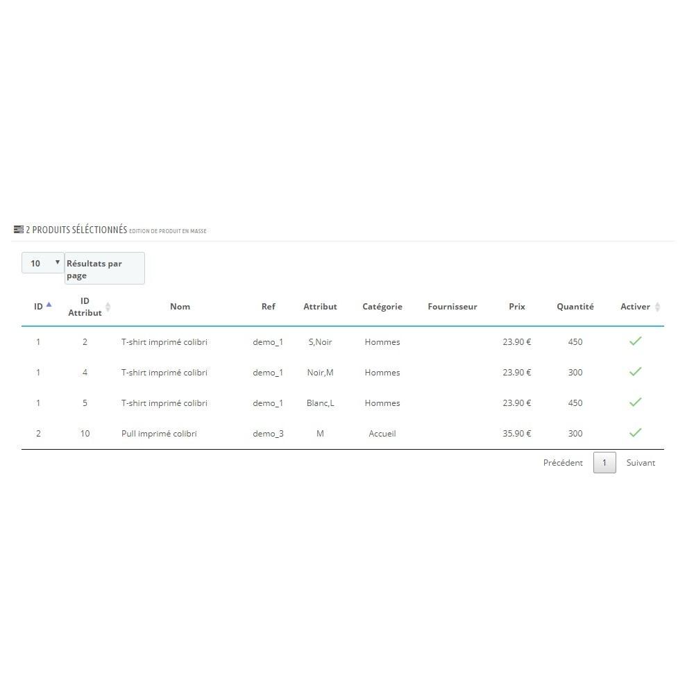 module - Edition rapide & Edition de masse - Édition de produit en masse - 3