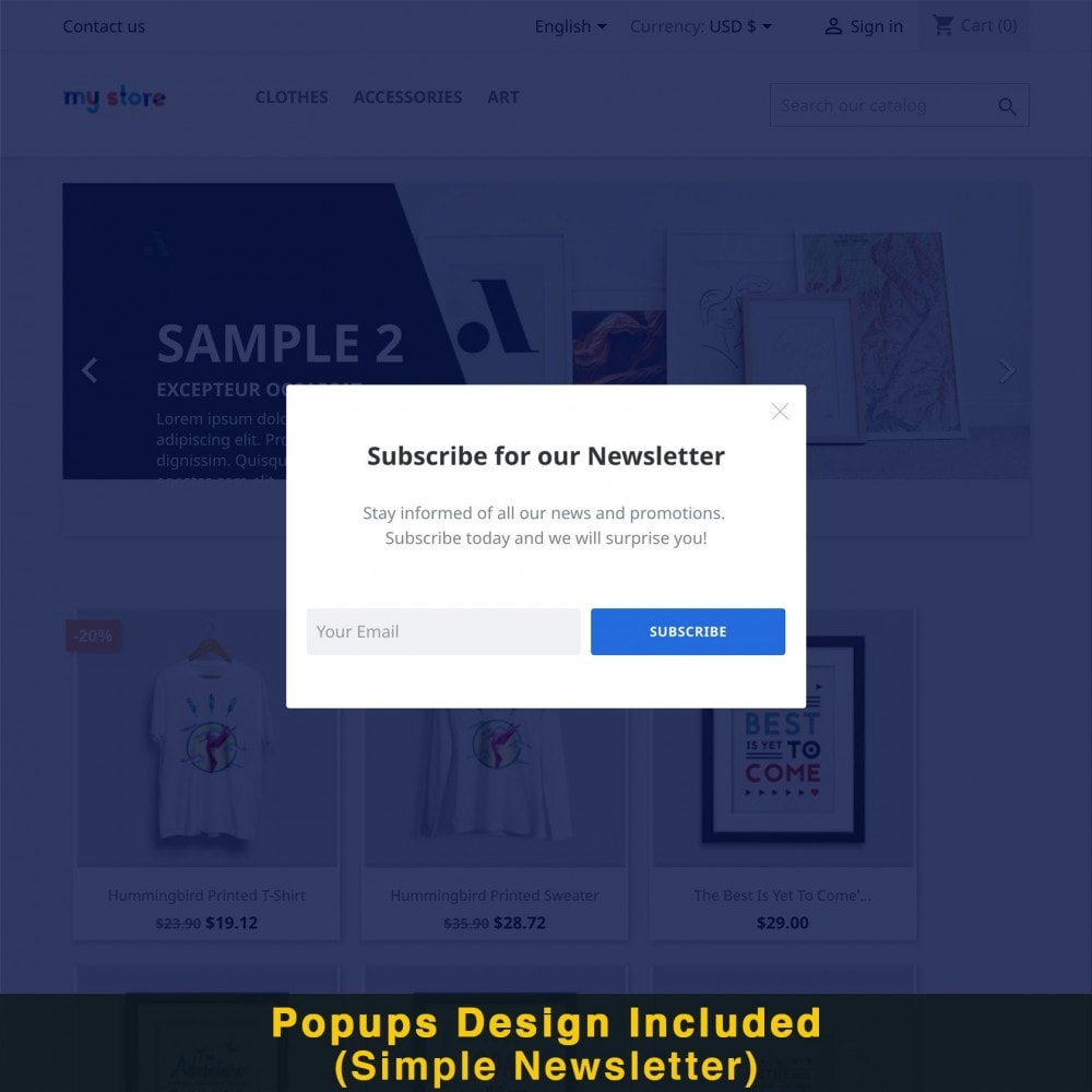 module - Promozioni & Regali - Smart Popup (Newsletter Popup) - 16