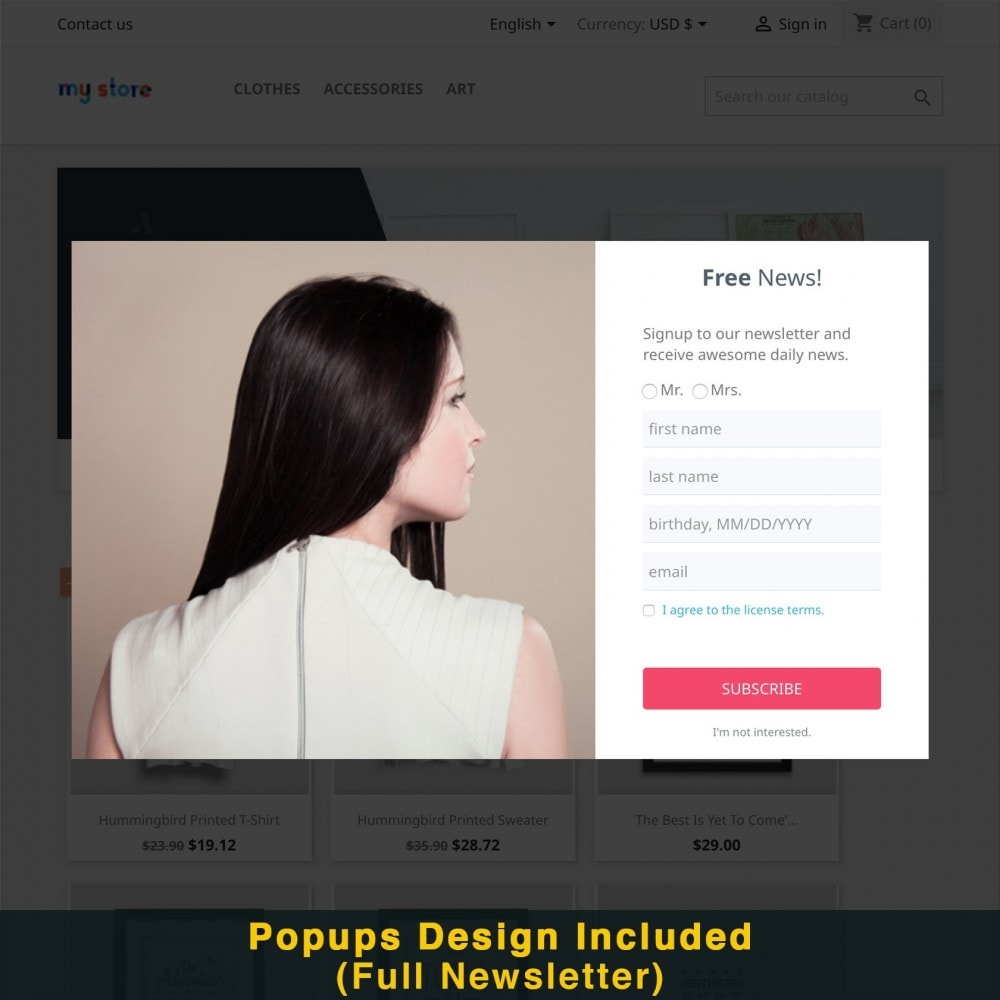 module - Promozioni & Regali - Smart Popup (Newsletter Popup) - 18